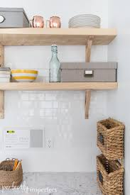 Reclaimed Wood Open Shelving