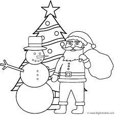 Snowman With Santa And Christmas Tree