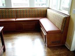 Kitchen Bench With Back Design Plans Nook Seating Backrest Upholstered Dining Table Set