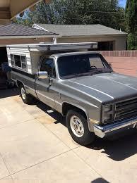 SOLD - 1987 Chevrolet Silverado R20 Pickup With Pop-up Camper ...