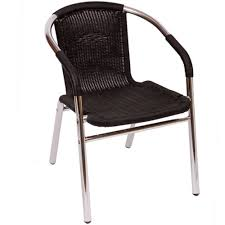 BFM Seating Madrid Outdoor Restaurant Arm Chair MS21C