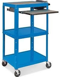 Mobile Puter Cart Blue ULINE