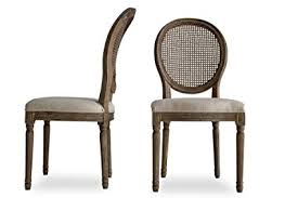 Edloe Finch CARINA Louis French Country Upholstered Dining Chairs