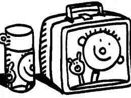 Lunch Box Clipart Black And White 4