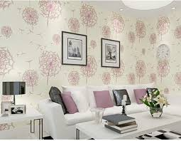 Modern Rustic Romantic Pink Dandelion 3d Beige Wallpaper Decorated Living Room And Bedroom Wall Mural