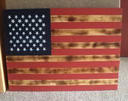 Wooden American Flag Rustic Handmade