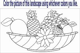 Fruits Coloring Printable Page For Kid