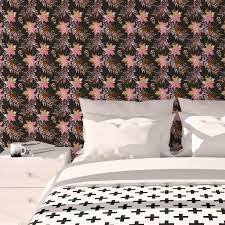 retro blumentapete wildflowers in braun florale tapete für schlafzimmer
