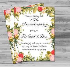 50th Anniversary Invitation Printable By PrintableMotivation Floral