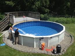 How To Level Ground For Above Ground Pool? - Pool University View From The Deck Of Above Ground Pool Lowered 24 Below Backyards Appealing Backyard Vineyard Design Images With Stunning How To Find Level When Installing A Round Intex Metal Southview Outdoor Living Make Room For Swimming Pool 009761474jpeg Should I My Home To Level Ground For Above University Ideas Drain Gallery Ipirations Leveling Pictures Breathtaking