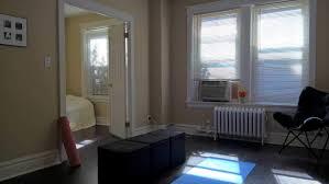Minimalist Apartment Pink Yoga Mat Blue Black Ottomans Butterfly