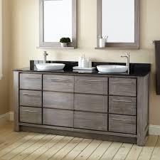 72 venica teak double vanity for semi recessed sinks gray wash