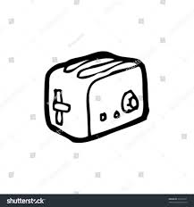 Quirky Toaster Drawing Stock Photo