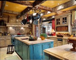 loving the colors and textures in this kitchen for the home
