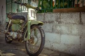 Old Motor Scooter Vehicle Moped Motorcycle Oldtimer