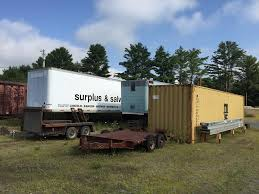 100 Bangor Truck Equipment Auction 17191 TANDEM AXLES EQUIPMENT TRAILERS STORAGE TRAILERS