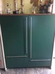 alno küche grün alu modern mit elektrogeräten und