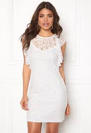 vero moda thea short lace dress snow white bubbleroom
