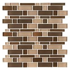 Jeffrey Court Mosaic Tile by Jeffrey Court Heritage Cold Pencil 12 In X 12 In X 8 Mm Glass