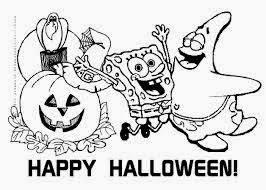 Happy Halloween Day With Spongebob Coloring Pages Download And Printout These Free Give Them To Your Kids They Will Do Their