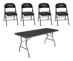 Amazon.com: Cosco Vinyl Folding Chair, 4-Pack, Black Bundle ... Raven Farmhouse 6piece Ding Set The Dump Luxe Fniture 132 Inch Round Satin Tablecloth Black 6 Foot Farm Table Kountry Kupboards With 8 Chairs Foot Cedar Table Steves Creations Correll 30w X 72l Ft Counter Height 36h 34 Top Highpssure Laminate Folding Lifetime Foldinhalf White Granite 6foot Plastic Traing 2 Trapezoidal Back Stack Chairs Details About Portable Event Party Indoor Outdoor Weatherproof Buffet New Vintage Oak Refectory Kitchen And In Brnemouth Dorset Gumtree Banquet Seating Decor How To Up For Holiday Parties Lerado 6ft Foldin Half Rect Table Raptor Concept Store