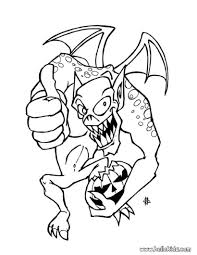 Halloween Coloring Books For Adults by Dangerous Gargoyle Coloring Pages Hellokids Com