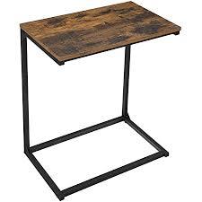 vasagle beistelltisch kleiner sofatisch kaffeetisch laptoptisch schlafzimmer wohnzimmer arbeiten im bett oder auf dem sofa einfacher aufbau