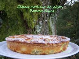 dessert aux kiwis facile gâteau moelleux de saison aux pommes et kiwis facile gourmand et