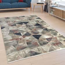 kurzflor teppich abstraktes design bunt