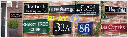 100 Rectangle House Rectangular Signs Suitable For Names Numbers Or Home