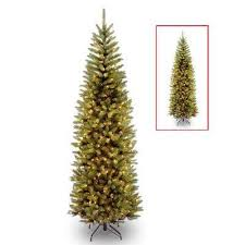 PowerConnect Kingswood Fir Slim Artificial Christmas Tree With Dual Color LED Lights