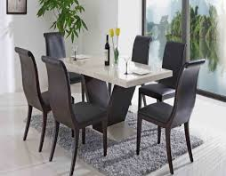 Contemporary Dining Room Set Furniture Modern Design Four White Chair Large Glasses Sliding Doors The Brown Rug Above Gray Floor