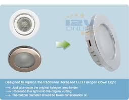 12v 2 76 led recessed ceiling light rv caravan coach trailer
