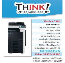 Konica Minolta Bizhub Color Copier C360 Denver THINK