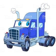 100 Semi Truck Clip Art Cartoon Trailer Or Heavy Truck Stock Vector More Images Of