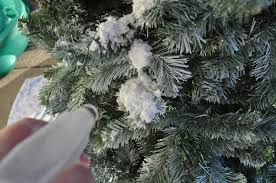 Flocking Powder For Christmas Trees by Just So Lovely A Flocked Christmas Tree