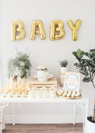 Planning a baby shower baby wall letters