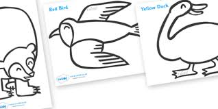 Colouring Sheets To Support Teaching On Brown Bear