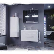 posseik badmöbel komplett set pro 75 cm weiß hochglanz 9 teilig eek a