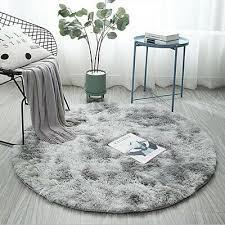 hochflor shaggy teppich einfarbig rund teppiche modern