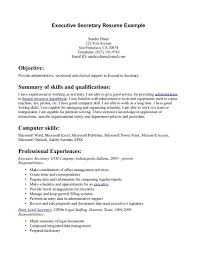 Secretary Resume Objective Perfect Examples Site Ai E104239