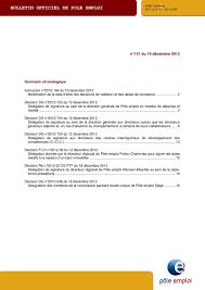 pole emploi siege bulletin officiel de pole emploi pdf
