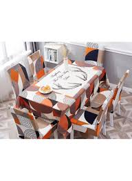 Shop Deals For Less 7-Piece Printed Table Cloth With Dining ... Galleon 2xhome Set Of Four 4 Plastic Side Black Dark Six 6 Clear Large Size Less Armchair Stackable 11430 French Weave Mattress Fniture For Aldwin Gray Ding Table W4 Restoration Hdware Look Less My Fniture Fancy Fix Rooms Room Chairs Rustic Exciting For Tayabas Cane Chair Look Life On Virginia Street Covers Ideas Trends Also Attractive Make And Chairs Trend Adde Black Home Glamour Arts Italian Designer Painted Cream Wood Tables 42 Round Small Spaces And