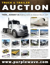 SOLD! August 24 Truck And Trailer Auction | PurpleWave, Inc. New And Used Trucks For Sale Heavy Cstruction Videos Disney Cars Mack Truck Hauler With 2 Fankhauser Farms Equipment Auction The Wendt Group Inc Land Lease Purchase Rti Market News A Dealer Marketplace Trucks World July 2016 13 Axle Pimeter Trailer Maneuvering Back Country Roads Youtube Rb High Tech Transport Trucking Transportation Wally With Guido Micro Everyday Heroes 104 Magazine