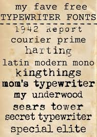 A Collection Of Free Typewriter Fonts Via Theshabbycreekcottage