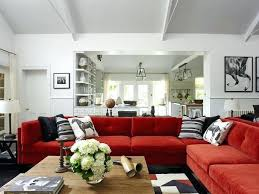 living room red couch weightloss