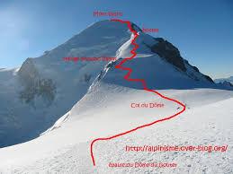 traversée du mont blanc arête des bosses trois monts