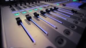 Professional Audio Studio Mixer In Action Stock Video Footage