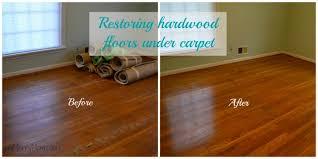restoring hardwood floors under carpet without refinishing the