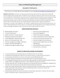 Sales And Marketing Management Resume